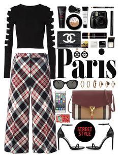 """go Paris"" by jasmimestefany ❤ liked on Polyvore featuring Cushnie Et Ochs, Alexander McQueen, Smashbox, Korres, Fujifilm, Antonym, Chanel, Dolce&Gabbana, Victoria Beckham and Yves Saint Laurent"