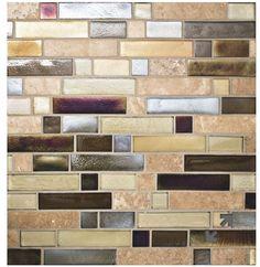 Stone glass tile,  backsplash