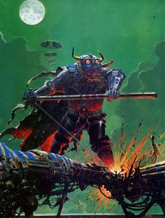 Cover for Metal Hurlant calendar by Moebius, 1981