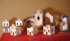 Nativity House, Nativity Creche, Christmas Nativity, Christmas Home, Foam Crafts, Diy And Crafts, Clay Houses, Christmas Villages, Christmas Decorations