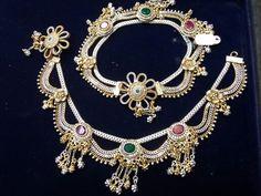 Bracelet Models - Nandini by Niti J Kundu Silver Payal, Silver Anklets, Payal Designs Silver, Mens Silver Necklace, Silver Jewelry, Silver Necklaces, Vintage Jewelry, Silver Rings, Anklet Jewelry