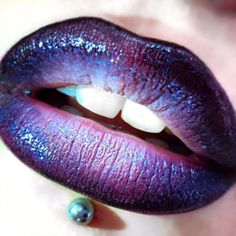 Milky Way Created with Liptensity lipstick Galaxy Grey, Eye Pencil Ebony, Eye Kohl Fascinating and finished with Crystal Glaze Gloss Ice Follies
