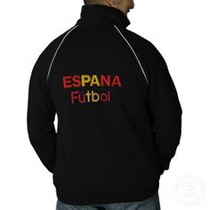 ESPANA Futbol TRACK JACKET #espana #futbol #soccer #mens #jacket #trackjacket #embroidered #zazzle