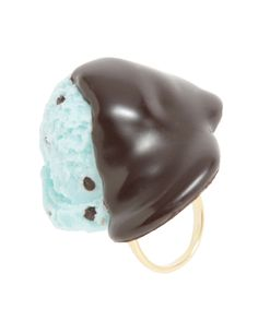 Sauced Mint Chocolate Ice Cream Ring(Chocolate) - Q-pot. INTERNATIONAL ONLINE SHOP