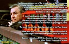 Another reason to love Mr Rogers