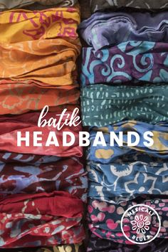 Keep your hair out of your eyes and add some charming style to your favorite hippie outfit with this batiked rayon headband! Free shipping on orders over $75!