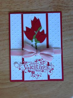 Stampin Up valentine's day card - roses for you. , via Etsy.