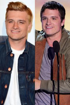 Josh Hutcherson    The Hunger Games star has gone back to blonde in order to resume his role as Peeta Mellark in the sequel, Catching Fire. He revealed the re-dyed 'do on August 15 at CBS' Teachers Rock Special in Los Angeles.