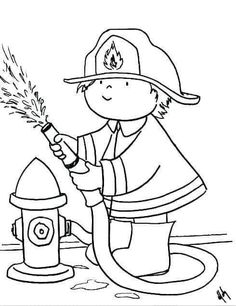 Printable Firefighter Coloring Pages Firefighter School, Firefighter Baby, Firefighter Wedding, Firefighter Birthday, Fireman Kids, Fireman Party, Colouring Pages, Coloring Sheets, Fire Safety For Kids