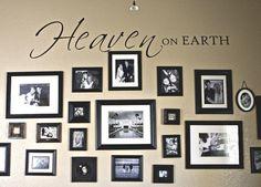 Heaven on earth family photo wall