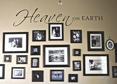 Heaven on earth family photo wall