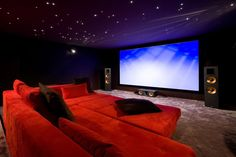 271 house goals, my dream home, cinema room, home theater rooms, entertainm Home Theater Room Design, Movie Theater Rooms, Home Cinema Room, Best Home Theater, Home Theater Seating, Theater Seats, Home Entertainment, My Dream Home, Home Goods