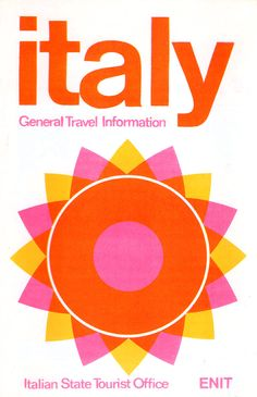 vivid yellow, pink, orange color standing out the image of flower or sun like showing positive feeling in italy.