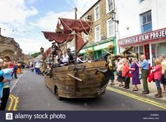 Pirate Ship Float, Haltwhistle Carnival, Haltwhistle, Northumberland Stock Photo, Royalty Free Image: 79539558 - Alamy