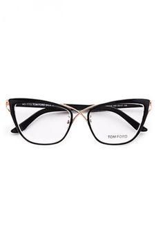 Tom Ford Eyewear Cat's Eye Eyeglasses, wonder what these would actually look like on Cute Glasses, New Glasses, Cat Eye Glasses, Glasses Frames, Tom Ford Eyewear, Tom Ford Sunglasses, Sports Sunglasses, Reflective Sunglasses, Sunglasses Outlet