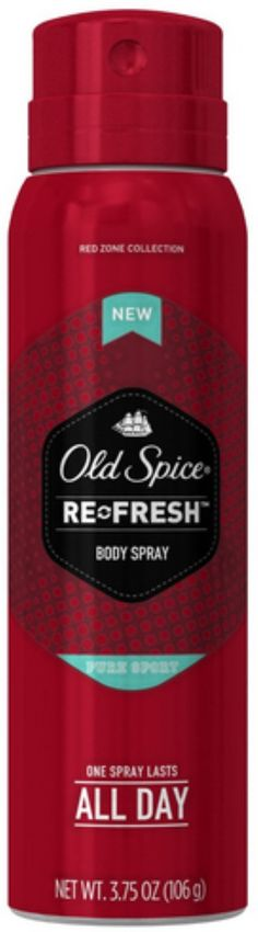 Old Spice Red Zone Re-Fresh Deodorant Body Spray, Pure Sport 3.75 by OLD SPICE