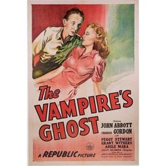 1945 The Vampire's Ghost Linen-Mounted Poster ($330) ❤ liked on Polyvore featuring home, home decor, wall art, girl posters, mounted wall art and girls wall art