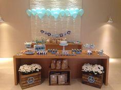Festa azul e branco