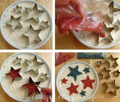 Hungry Happenings: How to turn a plain dip into a patriotic appetizer for the 4th of July - this would work for any kind of party deco.