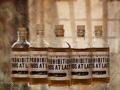 10 Prohibition Cork Glass Bottles for Wedding Favors Empty Bottles 1920s. $35.00, via Etsy.