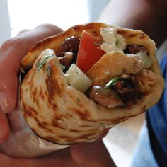 Chicken Gyro. Looks like takeout.