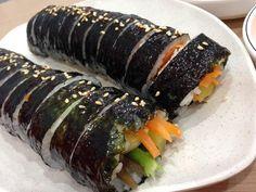 Vegetarian Gimbab Sushi, Vegetarian, Ethnic Recipes