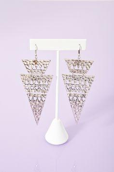 Tiered Triangle Earrings