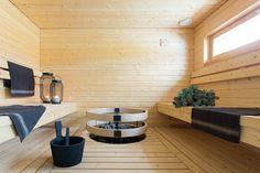 Tyylikäs ja tilava BoKlok-pihasauna Vantaan Satupihassa Saunas, Ikea, Gate Valve, Ikea Co, Steam Room