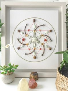Success in business, an office warming gift of crystals for the office, a unique piece of cool,office wall art Crystal Mandala, Crystal Grid, Clear Quartz Crystal, Office Wall Art, Office Decor, Stones And Crystals, Healing Crystals, Sacred Geometry Symbols, Chakra Art