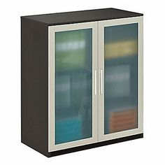 Modern home office, At Work Storage Cabinet with Glass Doors, AW-50168N