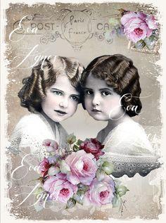 Sweet Sisters by EvaAgnes on Etsy