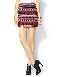 Sabine Sequin Trim Tribal Mini