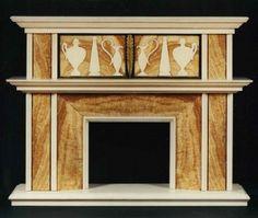 ART DECO CHIMNEYPIECE IN THE 'ANTIQUE' TASTE Rome. Circa 1925. Measurements: Height: 67″ (170 cm) Width: 53 1/8″ (135 cm) Depth 15 3/4″ (40cm)