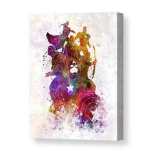 Avengers 02 in watercolor Canvas Print
