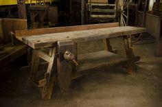 18th Century Moravian Workbench at Old Salem, North Carolina (WoodAndShop.com)