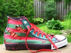 Freddy Krueger Custom Converse by GilliganFonzarelli.deviantart.com on @deviantART