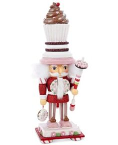 Kurt Adler 20 in. Hollywood Cupcake Nutcracker - The Kurt Adler 20 in. Hollywood Cupcake Nutcracker is the perfect gift for those with a sweet tooth in your family. This nutcracker is perfectly detai. Nutcracker Christmas, Christmas In July, Little Christmas, Christmas Home, Christmas Ornaments, Xmas, Christmas Ideas, Christmas Crafts, Merry Christmas