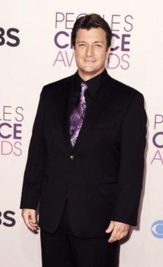 Nathan Fillion on the PCA red carpet