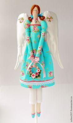 Куклы Тильды ручной работы. Ярмарка Мастеров - ручная работа Винтажный ангел. Handmade.