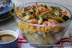 Aqui vai uma deliciosa Salada de Quiabo com Camarão, é bem levezinha, perfeita para o #almoço ou para o fds!!  #Receita aqui: http://www.gulosoesaudavel.com.br/2015/02/20/salada-quiabo-camarao/