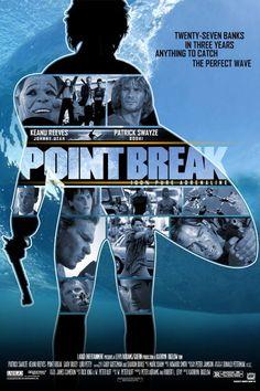 Caçadores de Emoção – Filme muito bom com Patrick Swayze e Keanu Reeves. Está no cinema a refilmagem, bem atual e com muitas cenas de ação.