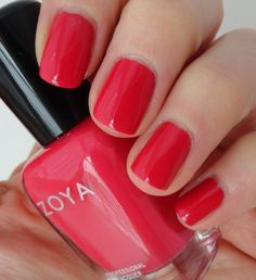 Zoya - LC Love this color! Coral Nail Polish, Coral Nails, Nail Polish Art, Nail Art, Trendy Nails, Cute Nails, Make Up For Dummies, Hair And Nails, My Nails