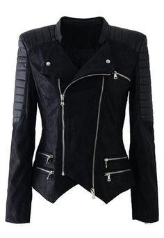 Una chaqueta así inmediatamente atraería la mirada de todos, por su dramatismo y su bella estructura.