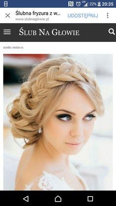 Warkocz fryzura ślubna