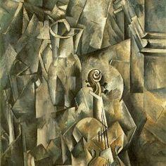 """""""El músico"""" George Braque."""