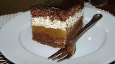 Torty ciasta i ciasteczka Joli: Czekoladowe ciasto z jabłkami i masą chałwową