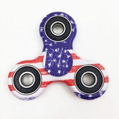 Fidget Fi-Jit Hand Spinner Stress Relief Toy Black /& Red Splatter Tri-Spinner