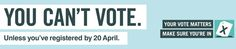 Away on holiday for the General Election on 7 May? If you want to vote by post at the 2015 UK general election, you must submit a postal vote application form by 5pm on Tuesday 21 April. Anyone who is individually registered can apply for a postal vote. You do not need a reason to vote by post. You can download a the form to apply to vote by post here: www.aboutmyvote.co.uk/how-do-i-vote/voting-by-post