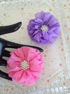 Set of 2 Shabby Chic flower appliquechiffon flower by MCsupplies