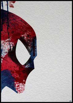 Spiderman - well he's Marvel. but I guess he can hang next to Batman Comic Books Art, Comic Art, Comic Pics, Posters Geek, Illustrations, Illustration Art, Hero Marvel, Fantasy Anime, Splatter Art